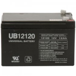 Sealed Lead Acid Batteries 12v 12ah .187 Tab Terminals Ub12120