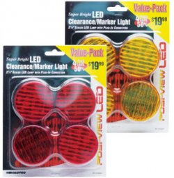 "LED 2.5"" Round Sealed Lights - 4-Pack Value Pack"