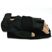 Goat Leather Fingerless Driving Gloves, Large