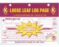 Loose Leaf Driver's Daily Log Sheets with 31 Duplicate Sets