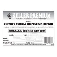 Personalized Duplicate Carbonless Driver's Vehicle Inspection Report Book