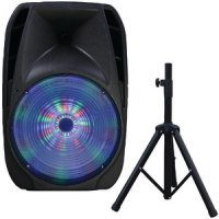 "15"" Portable Bluetooth DJ Speaker With Stand"