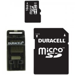 Class 10 MicroSD Card With SD & USB Adapters 16gb