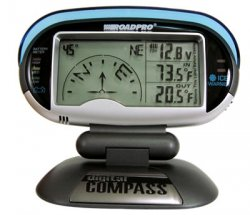 12-Volt Digital Compass with Temperature, Voltage Meter and Ice Alert
