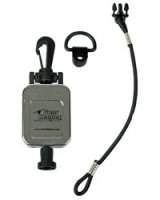 Standard Retractable CB Mic GearKeeper with Snap Clip - Chrome Finish