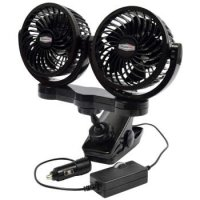 Dual 12-Volt Fan with Mounting Clip