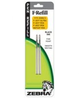 Fine Ball Point Black Ink F-Refills - 2-Pack, Black Ink