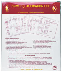 Driver Qualification File Folder & Required Forms