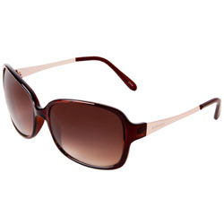 Ladies\' Square Sunglasses, Crystal Brown