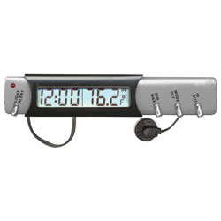 Home or Auto Indoor/Outdoor Thermometer Clock with Ice Alert