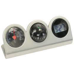 Compass Clock Thermometer Combo