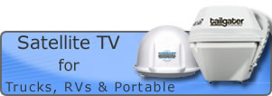 portable truck rv motorhome satellite tv