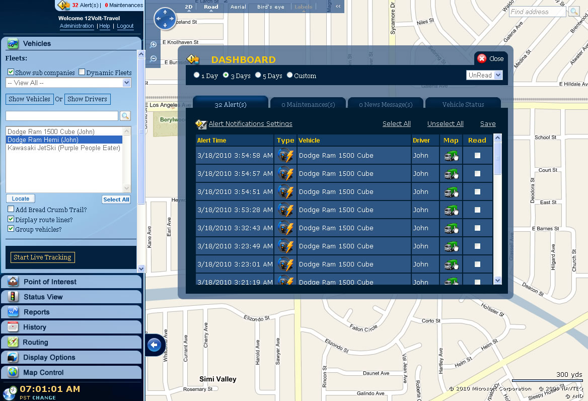 Gps Vehicle Tracking System >> GPS Fleet Tracking System - Real Time Vehicle Tracking