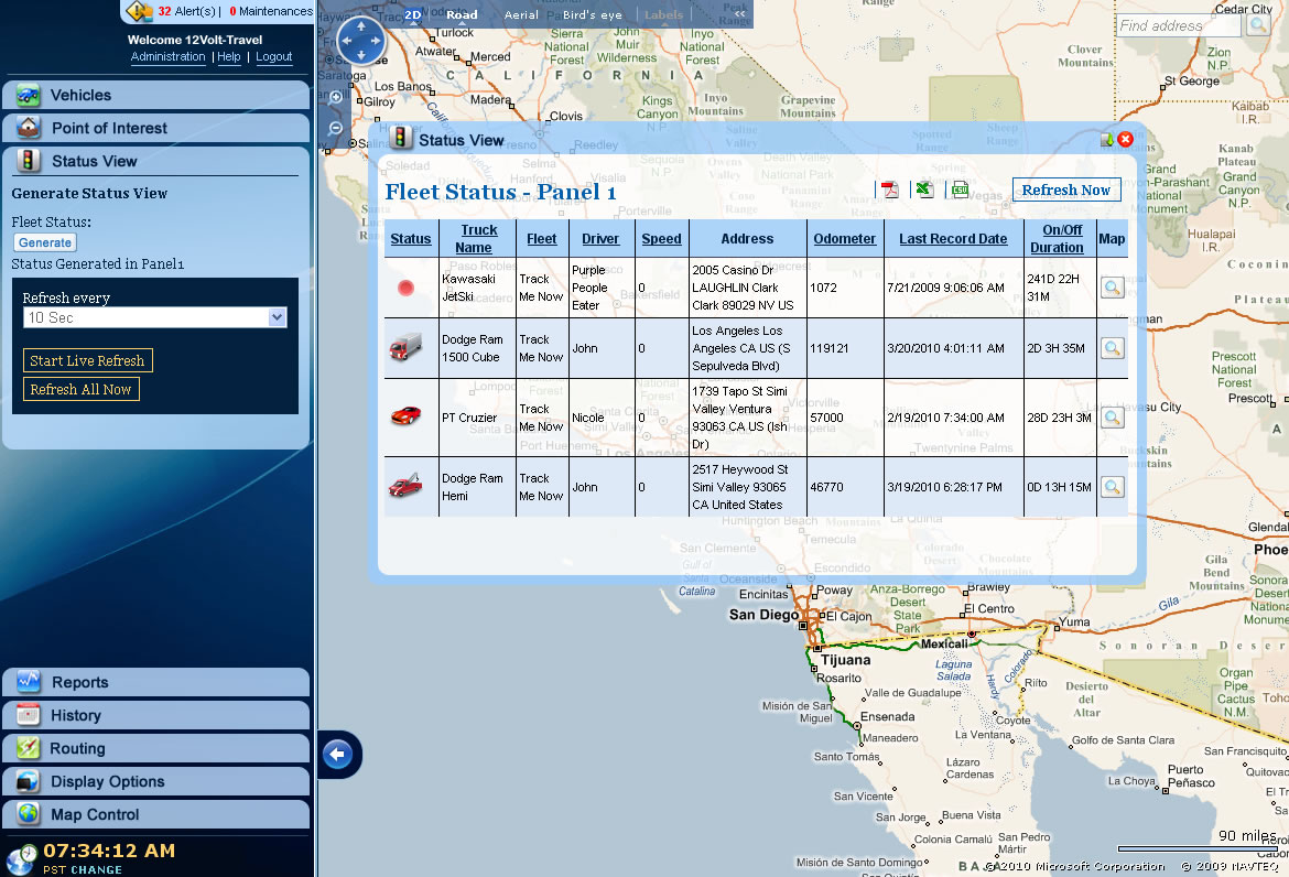 Gps Fleet Tracking System Real Time Vehicle Tracking