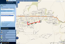 Fleet Tracking User Interface Locate Vehicle Using Breadcrumb Trail