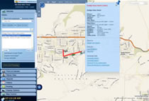 Fleet Tracking User Interface Locate Vehicle w-Breadcrumb and 3D Map