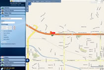 Fleet Tracking User Interface Vehicle Speed Report Show on Map