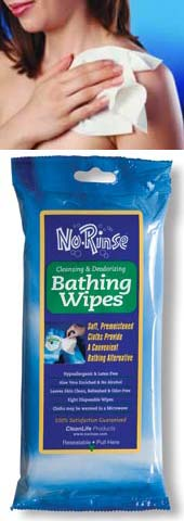No-Rinse Outdoor Bathing Wipes Instructions
