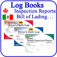 Truckers Log Books, Inspection Reports and Truck Log Book Accessories
