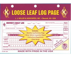 Loose Leaf Driver\'s Daily Log Sheets - Pack of 31 Duplicate Sets