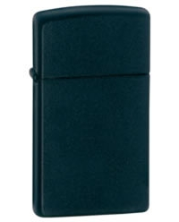 Black Matte Finish Lighter without Logo - Slim, Pure Series
