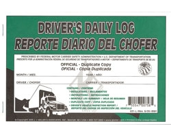 Driver\'s Daily Log Book with Duplicate Copies - 31 Carbon Sets, English/Spanish