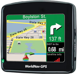 "WorldNav Truck Routing 3.5"" GPS Navigation for Commercial Drivers"