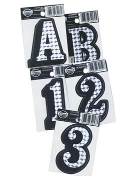 Waterproof Self Adhesive Number and Letter Decals