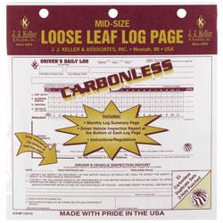 J J  Keller 615MP Duplicate Mid-Size Loose-Leaf Driver's Log, Carbonless -  12Volt-Travel®