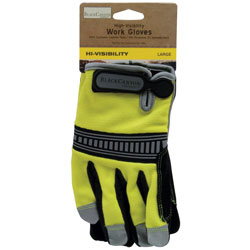 High Visibility Work Gloves, Large