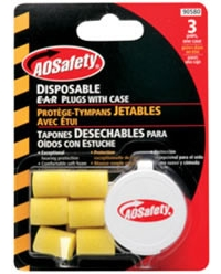 Disposable Ear Plugs with Case - 3 Pair