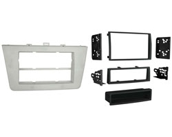 2009 Mazda 6 2-DIN with Removable Pocket Turbo Install Kit - Silver