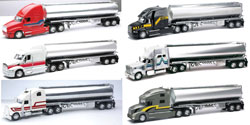 1:32 Scale Die Cast Long Hauler Tankers Truck Assortment