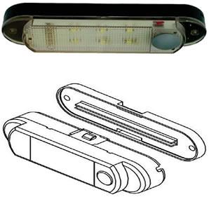 Decorative Rv Interior Lights >> Starcraft AT-LED-12V Interior LED Light - 12 Volt DC - Push Button On/Off - 12Volt-Travel®