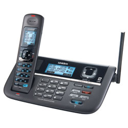 DECT 6.0 2 Line Cordless Digital Answering System with Dual Keypad on Base