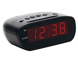 12-Volt Super-Loud 60-90 Decibel LED Alarm Clock with Snooze Button
