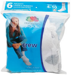 Women\'s Socks - Crew, 6 Pair Pack
