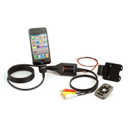 A/V Cable with Wireless RF Remote and 2.1 Amp Charging for iPod/ iPhone/ iPad