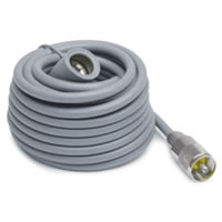 18' Super Mini-8 CB Antenna Cable with Soldered PL-259 Connectors - Grey