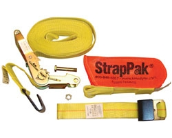 2 x 27\' Ratchet Strap with Wide Handle 2004 Webbing and StrapPak(TM)