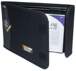 "Logbook Binder with Slide Rule - Black, 10.5"" x 7.5\"""