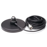 "5"" Magnet Mount CB Antenna Base with Coax Cable - Black"