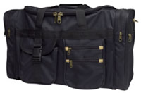 "20"" x 9\"" x 12\"" Canvas Travel Bags - Black"