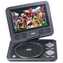 "Portable DVD Player with 7"" Swivel LCD Display & SD/MMC/USB Inputs"
