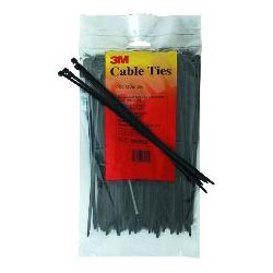 6 Nylon Cable Ties Black 100-Pack