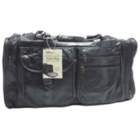 "26"" Patchwork Leather Travel Bags - Black"