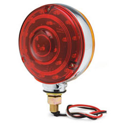 LED 4 Double Side Light - Red/Amber Carded