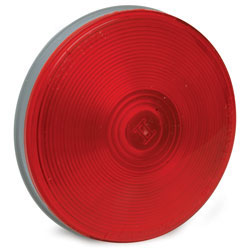 4.25 Round Sealed Light with 3-Prong Grote(R) Connector - Red