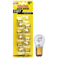 Heavy Duty Automotive Replacement Bulbs - #1157, Clear, 6-Pack Value Pack