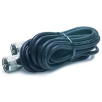 12' CB Antenna Coax Cable with PL-259 Connectors - Black